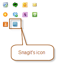 Snagit Icon in Hidden Icons area